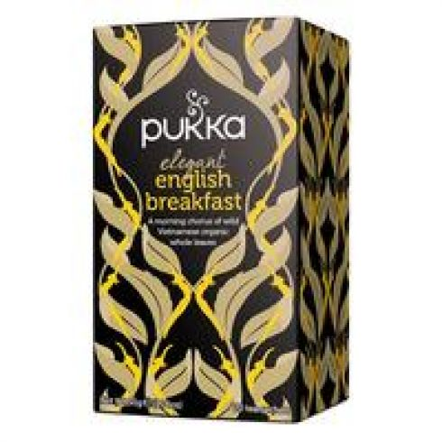 Pukka - Sort Te - Elegant English Breakfast - Øko FT (4 x 20 breve)