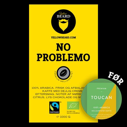 No Problemo Økologisk & Fairtrade, mellemristet (Hele Bønner 1000 g)