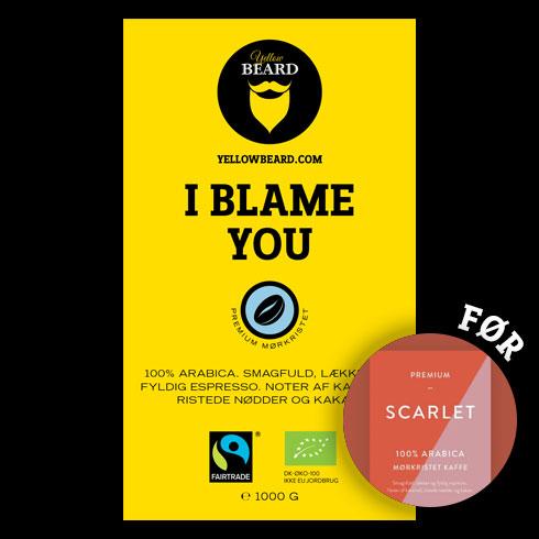 I Blame You Økologisk & Fairtrade, mørkristet (Hele Bønner 1000 g)
